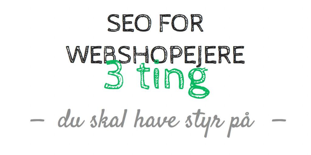 SEO for webshopejere – 3 ting du skal have styr på